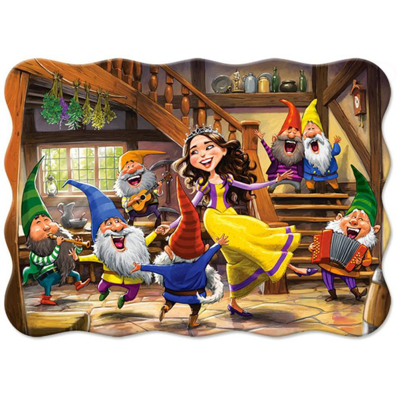 PUZZLE 30 EL. SNOW WHITE AND 7